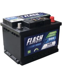 FLASH POWER Akumulator 12v 66Ah desno+