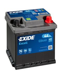 EXIDE Akumulator 12V 44Ah 400A EXCELL FIAT desno+