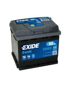 EXIDE Akumulator 12V 50Ah 450A EXCELL desno+