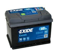 EXIDE Akumulator 12V 60Ah 540A EXCELL desno+