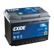 EXIDE Akumulator 12V 74Ah 680A EXCELL desno+