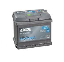 EXIDE Akumulator 12V 47Ah 450A PREMIUM desno+