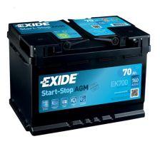 EXIDE Start-Stop Akumulator 12V 70Ah 760A AGM desno+